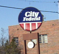 '70s logo for City Federal.  Sign is still up in North B'ham!