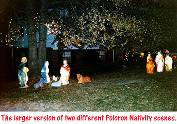 Not Forgetting The Real Meaning Of Christmas, Poloron Marketed Two  Different Sizes Of Lighted Nativity Scenes.